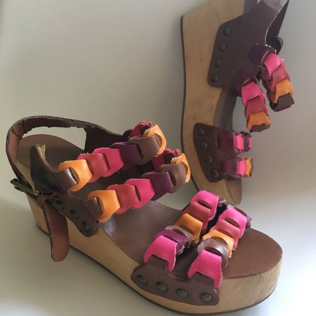 Wooden Wedge Clogs from Urban Outfitters USA