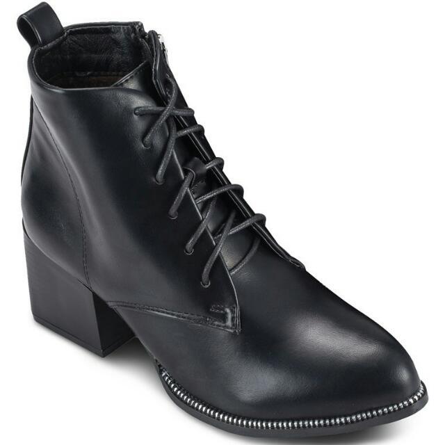 Zalora / Something Borrowed / 繫帶尖頭粗跟騎士短靴
