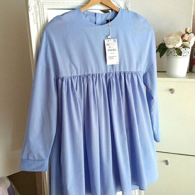 Zara Blue Dress Size SMALL
