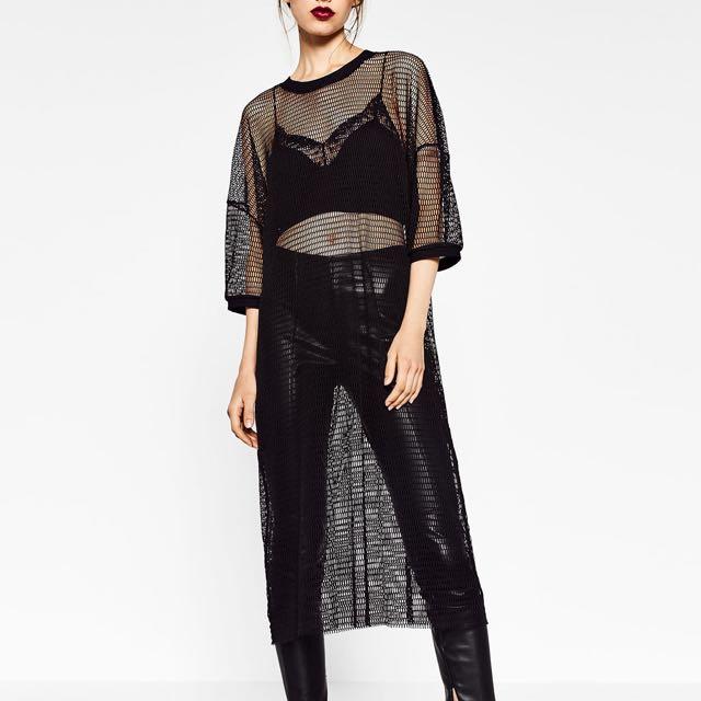 Zara Mesh Dress - Black