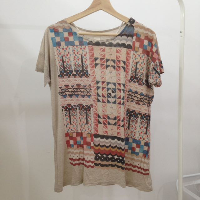 Zara Printed T-shirt (Size M)