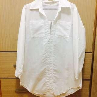 長版白襯衫
