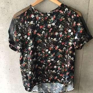 Floral Print Top From Zara (Medium)