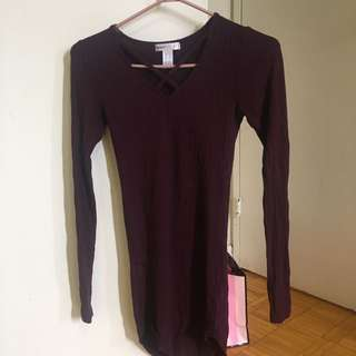 Burgundy Shirt/Dress Small