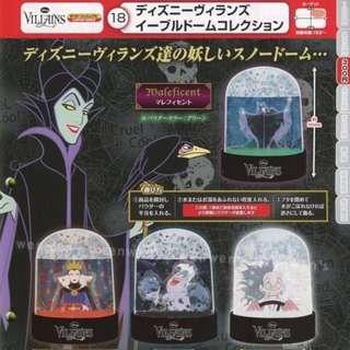 🇯🇵日本 迪士尼 反派 壞人 黑魔女 烏蘇拉 101忠狗 公主 水晶球 扭蛋
