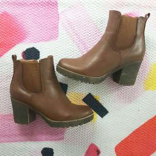 Never Worn Brown Leather Booties