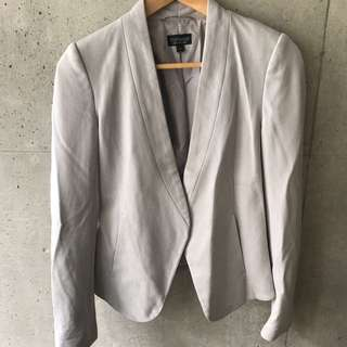 Grey Topshop Fitted Blazer (Size 4)