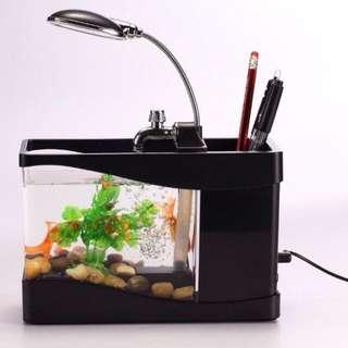 小魚缸連筆筒