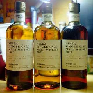 余市 宮城峽 single malt whisky