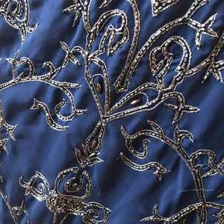 Beaded Blue Mini Dress
