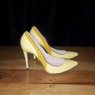 Beautiful Lemon Yellow Heels