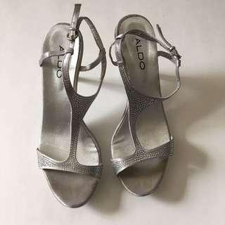 Silver Sparkly Aldo Heels