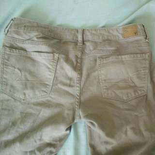 AE Tan Jeans: Size 6
