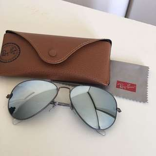 Ray Ban Mirror Flash Lens Aviator Sunglasses
