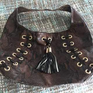Authentic Michael Kors Snake Skin Hobo Bag