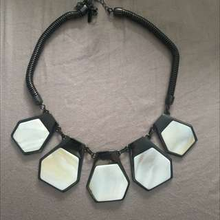 Top Shop Marble Bold Necklace