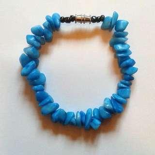 Blue Stone Boho Chic Bracelet