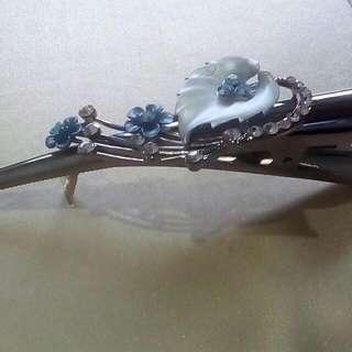 Blue Floral Hair Pin
