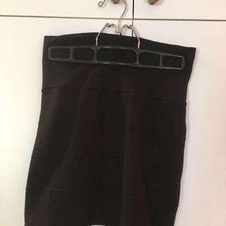 Tight Black Knit Short Skirt