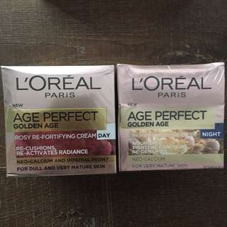 Mother's Day Gift Idea! 2 x L'Oréal Age Perfect Golden Age Day + Night