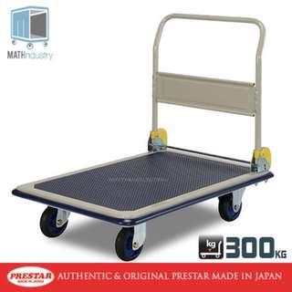 300kg Heavy Duty Metal Platform Trolley PRESTAR (Made in Japan) HAND TRUCK