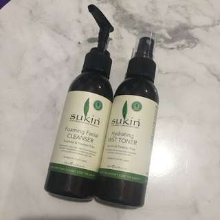 Sukin Australian Natural Skincare Facial Cleanser And Hydrating Toner