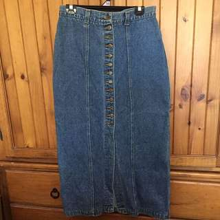 Vintage Basic High Waisted Skirt
