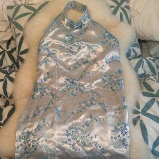 Make An Offer: Long Chinese Satin Dress