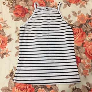 Size S: Striped Tank