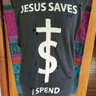 """Jesus Saves I Spend"" Singlet"