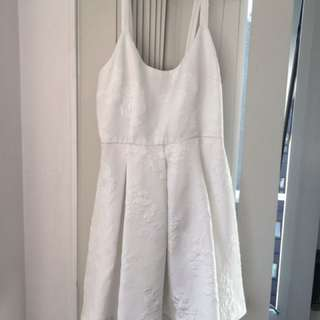 Forever-21 White Dress Size-M