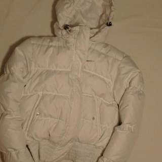White puffy Nike Coat (S)