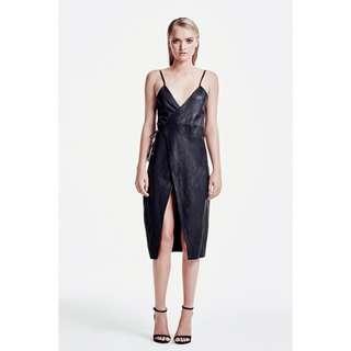 Sir the Label Gigi Leather Wrap Dress