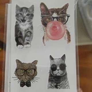 KITTEN CAT Temporary Tattoos