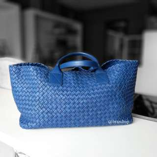 Authentic BottegaVeneta Woven Leather Cabat Bag