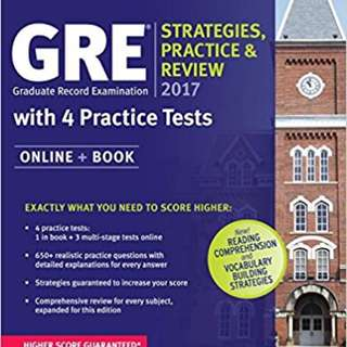 GRE Strategies, Practice and Review 2017