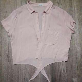 Garage Silky Light Pink Top