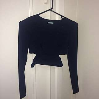 Kookai Cut Out Long Sleeve