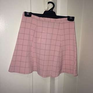 American Apparel Checkered A Line Skirt