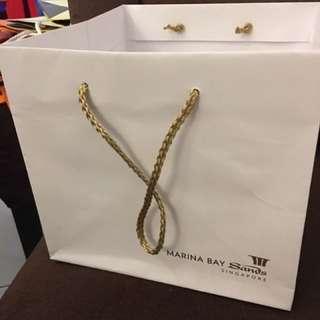 Marina Bay Sands Hotel Paperbag (Square And BIG)