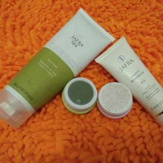 Paket jafra mud mask & exfoliating scrub
