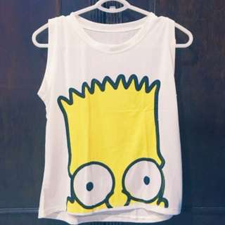 Bart Simpson Crop Top Size M-L Php 200