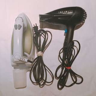iron and hair drier