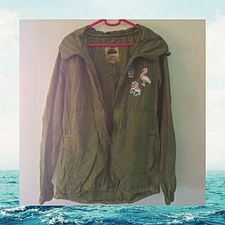 Pull and Bear Army Green Jacket