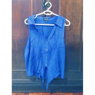 Button Down Crop Top (F21) Size XXL Php 200