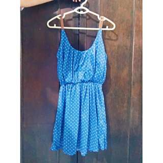 Polka Dot Short Dress Size L Php 300