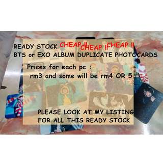 BTS DUPLICATE ALBUM PHOTOCARDS
