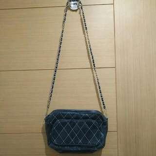 Black Sling Bag Chain
