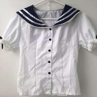 Kawaii Sailor/School Girl Blouse Size 8/10
