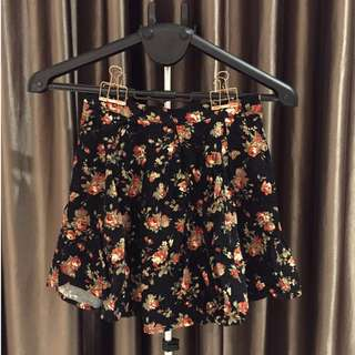 Quirky Circus floral skirt